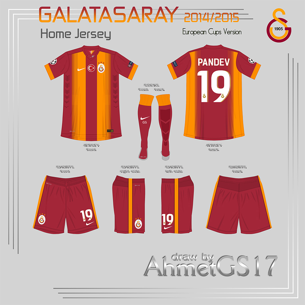 Galatasaray 14 15 Jerseys Drawing By Ahmetgs17 Designs By Ahmetgs17