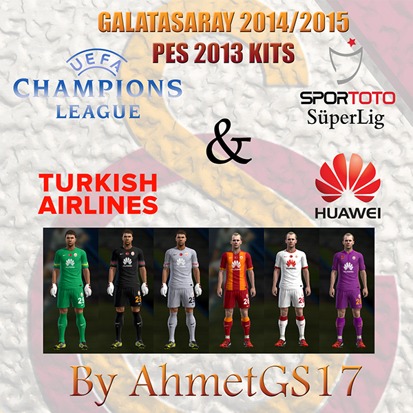 PES 2013 Galatasaray 2014/2015 Kits by AhmetGS17